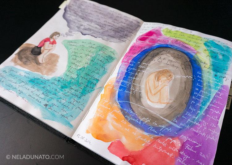 Art journaling my depression by Nela Dunato