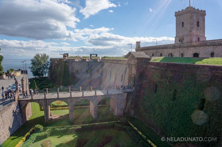 Montjuic castle in Barcelona