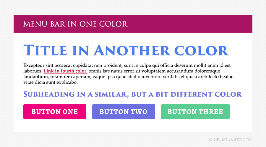 Beginner design mistakes - Too many colors