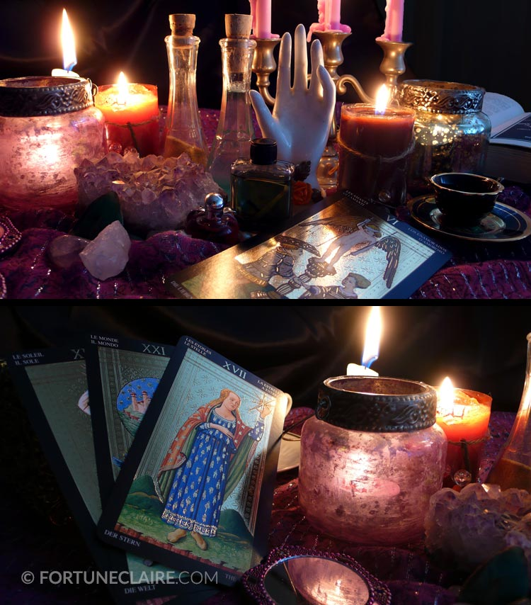 Claire Fortune Tarot photography