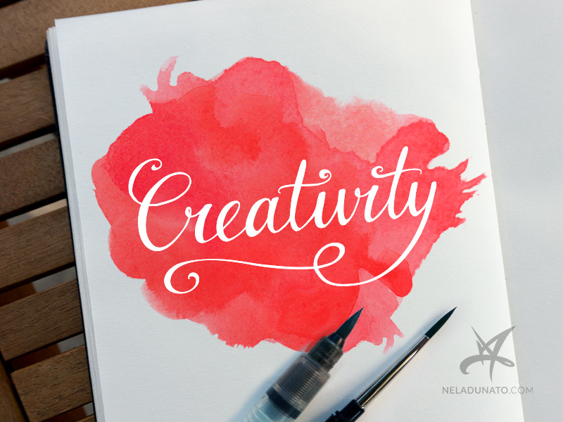 Creativity hand-lettered graphic