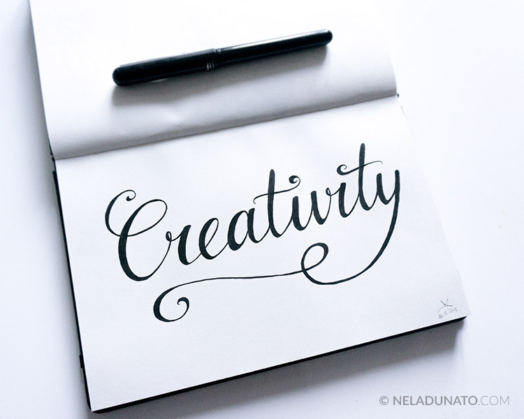 Creativity brush hand-lettering