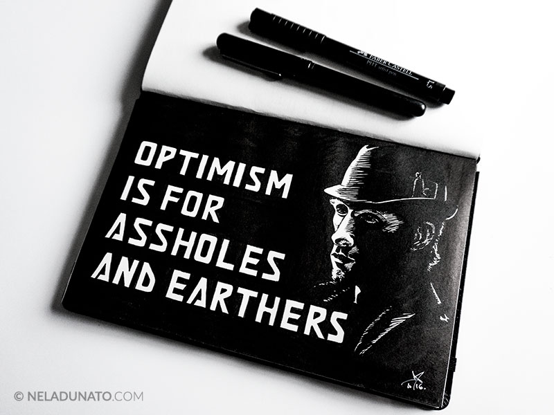 The Expanse fanart - hand lettering and portrait of detective Miller