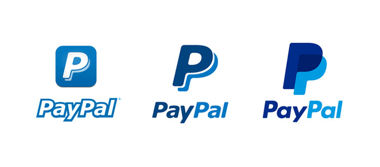 Logo Paypal - old and new