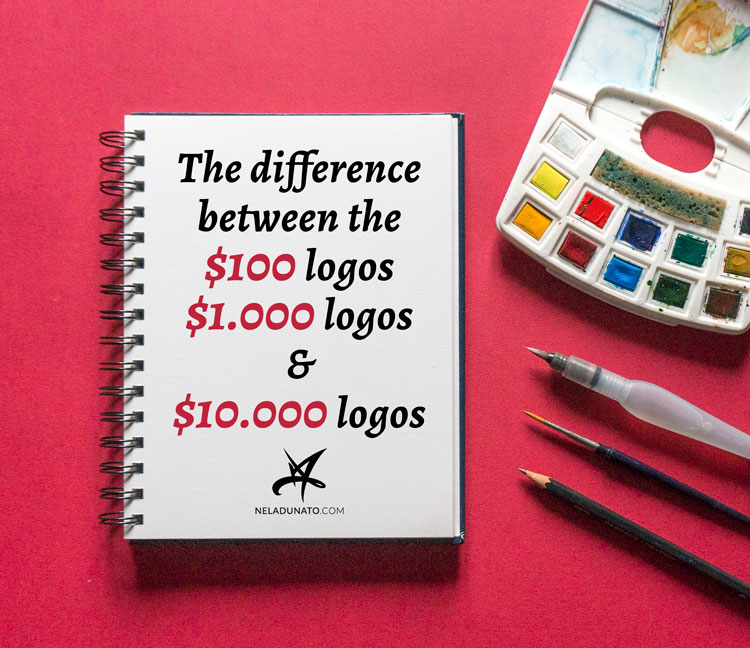 The difference between the $100 logos, $1.000 logos and $10.000 logos