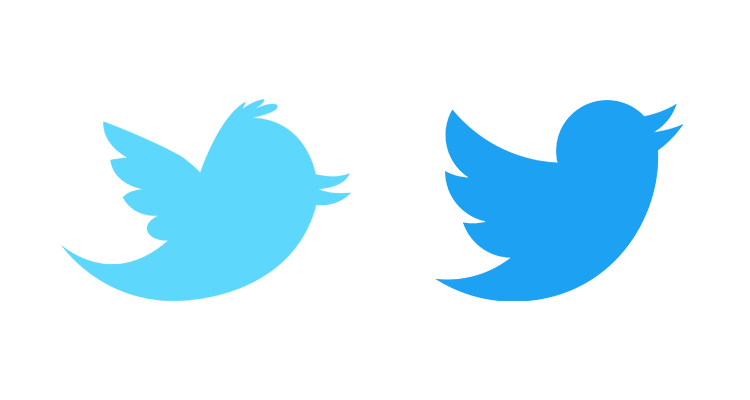 Logo Twitter - old and new