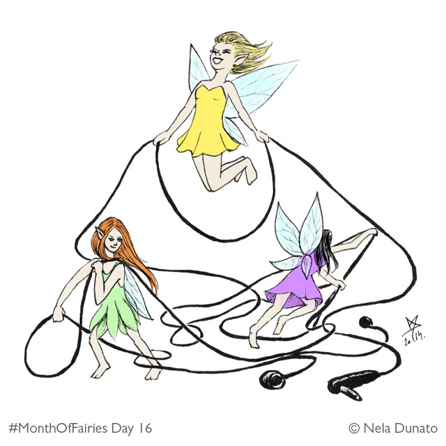 Month Of Fairies day 16: Headphone tanglers