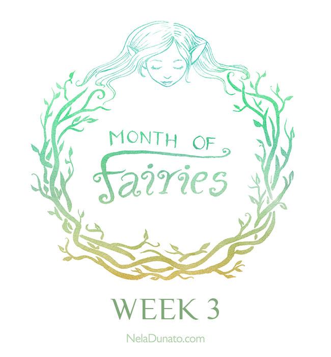 Month Of Fairies art challenge - Week 3