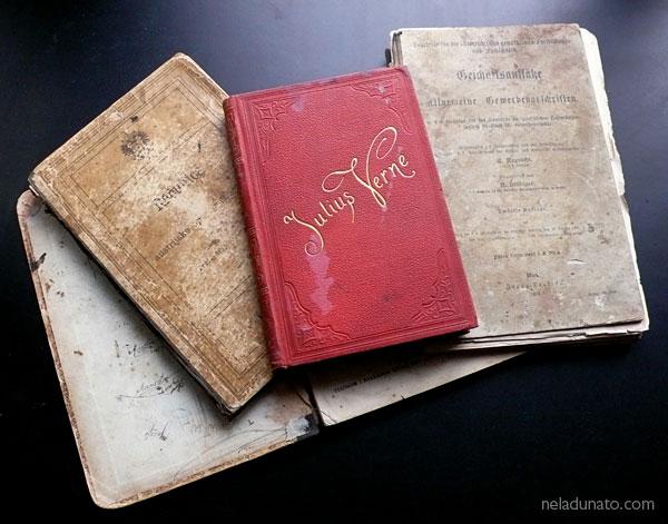 Old books, Jules Verne