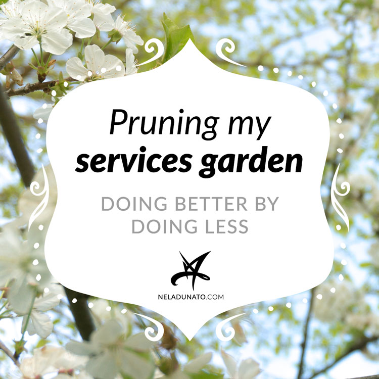 Pruning my services garden - doing better by doing less