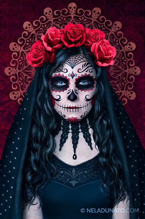 Santa Muerte photo-manipulation process - finished art