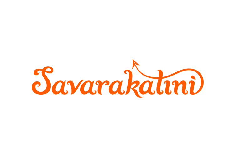 Hand-lettered logo design for Savarakatini by Nela Dunato