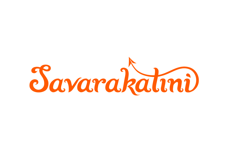 Savarakatini hand-lettered logo design