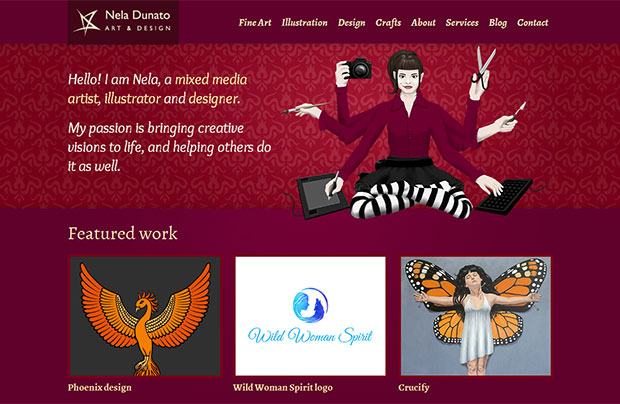 Original version of NelaDunato.com homepage