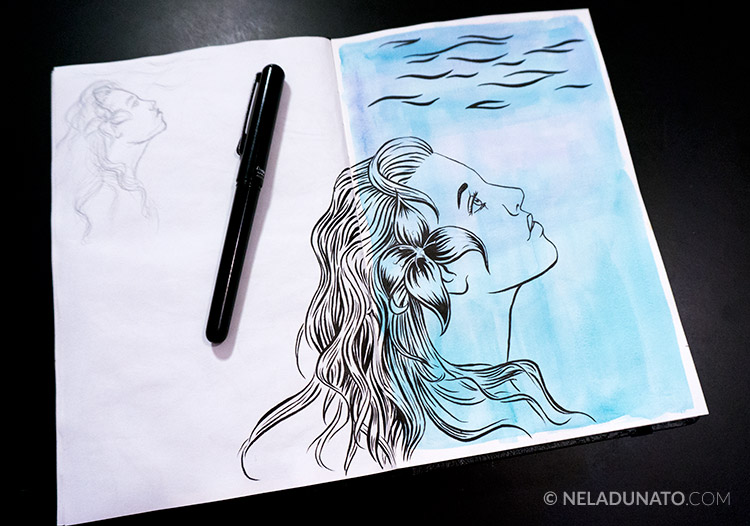 Sketchbook: Aqua Lady #4 - work in progress