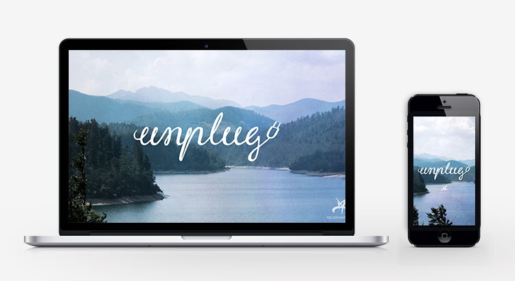 Unplug lake inspirational wallpaper
