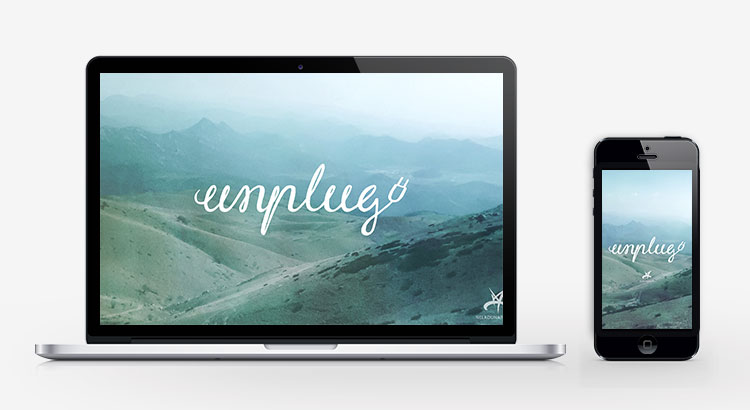Unplug mountain inspirational wallpaper