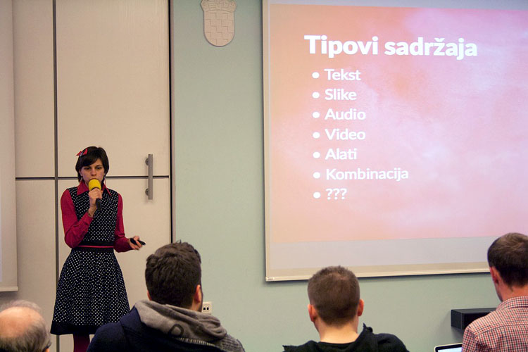Nela Dunato speaking at 10th WordPress Meetup Zagreb